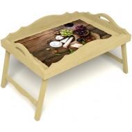 Столик для завтрака в постель «Русская берёза», «Вечер пятницы» с фигурным бортиком цвет светлый