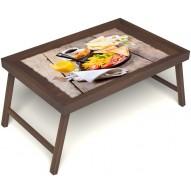 Столик для завтрака в постель «Английский завтрак» без ручек цвет орех