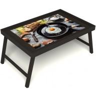 Столик для завтрака в постель «Яичница» без ручек цвет венге