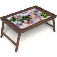 Столик для завтрака в постель «Черничное искушение» без ручек цвет орех