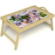 Столик для завтрака в постель «Черничное искушение» с ручками цвет светлый