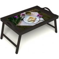 Столик для завтрака в постель «Десерт» с ручками цвет венге