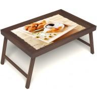 Столик для завтрака в постель «Русская берёза», «Французский завтрак» без ручек цвет орех