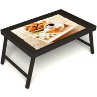 Столик для завтрака в постель «Русская берёза», «Французский завтрак» без ручек цвет венге