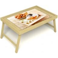 Столик для завтрака в постель «Русская берёза», «Французский завтрак» без ручек цвет светлый
