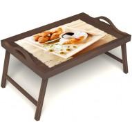Столик для завтрака в постель «Русская берёза», «Французский завтрак» с ручками цвет орех