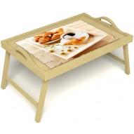 Столик для завтрака в постель «Русская берёза», «Французский завтрак» с ручками цвет светлый