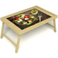 Столик для завтрака в постель «Греческий завтрак» без ручек цвет светлый