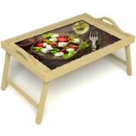 Столик для завтрака в постель «Русская берёза», «Греческий завтрак» с ручками цвет светлый