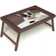 Столик для завтрака в постель «Маленький друг» без ручек цвет орех