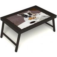 Столик для завтрака в постель «Маленький друг» без ручек цвет венге