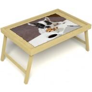 Столик для завтрака в постель «Маленький друг» без ручек цвет светлый