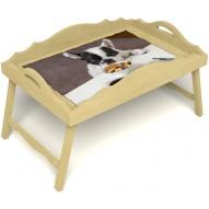 Столик для завтрака в постель «Русская берёза», «Маленький друг» с фигурным бортиком цвет светлый