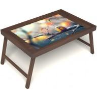 Столик для завтрака в постель «Птичка моя» без ручек цвет орех