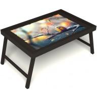 Столик для завтрака в постель «Птичка моя» без ручек цвет венге