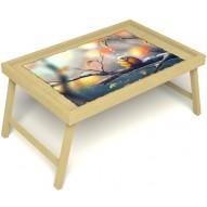 Столик для завтрака в постель «Птичка моя» без ручек цвет светлый