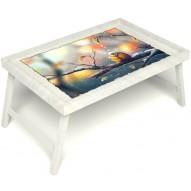 Столик для завтрака в постель «Птичка моя» без ручек цвет белый