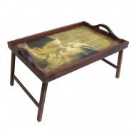 Столик для завтрака в постель с ручками «Незабываемый поцелуй»