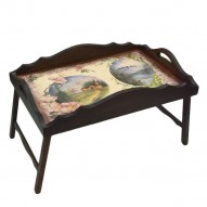Столик для завтрака в постель с фигурным бортиком «Альпийский пейзаж»