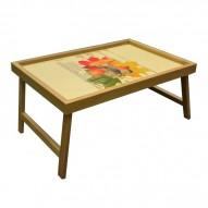 Столик для завтрака в постель «Русская берёза», «Мерная таблица» (грибы)