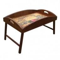 Столик для завтрака в постель с высоким бортиком «Музыка Души»