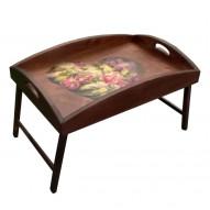 Столик для завтрака в постель с высоким бортиком «Нежное сердце»