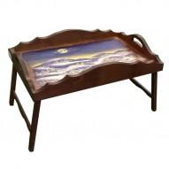 Столик для завтрака в постель с фигурным бортиком «Ночь перед Рождеством»