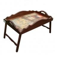 Столик для завтрака в постель с фигурным бортиком «Париж»