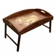 Столик для завтрака в постель с высоким бортиком «Поющее сердце»