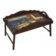 Столик для завтрака в постель с фигурным бортиком «Райский уголок»