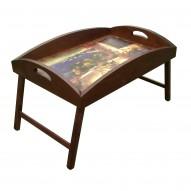 Столик для завтрака в постель с высоким бортиком «Райский уголок»