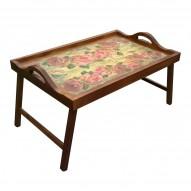 Столик для завтрака в постель с ручками «Розовая симфония»