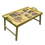 Столик для завтрака в постель «Русская берёза», с ручками «Семейный альбом»