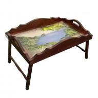 Столик для завтрака в постель с фигурным бортиком «Солнечный край»