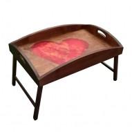 Столик для завтрака в постель с высоким бортиком «Стрелы Амура»