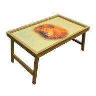 Столик для завтрака в постель «Царь зверей»