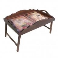 Столик для завтрака в постель с фигурным бортиком «В мечтах»