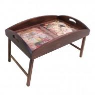Столик для завтрака в постель с высоким бортиком «В мечтах»
