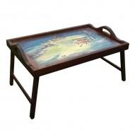 Столик для завтрака в постель с ручками «Зимняя скамейка»