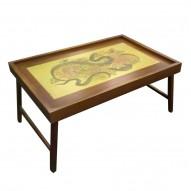 Столик для завтрака в постели «Змея с хризантемами»
