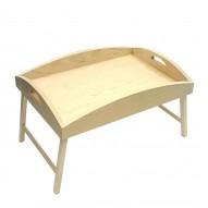 Столик для завтрака в постель заготовка для декупажа с высокими бортиками