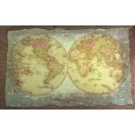 Столик для завтрака в постель «Русская берёза», с высоким бортиком «Карта Мира»
