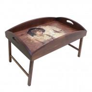 Столик для завтрака в постель с высоким бортиком «Долгожданное письмо»