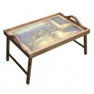 Столик для завтрака в постель с ручками «Райский уголок»