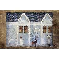 Столик для завтрака в постель «Русская берёза», «Снежный домик»