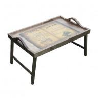 Столик для завтрака в постель «Русская берёза», с ручками «Старый рояль»