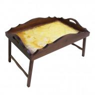 Столик для завтрака в постель «Русская берёза», с фигурным бортиком «В ожидании любви»