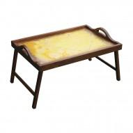 Столик для завтрака в постель «Русская берёза», с ручками «В ожидании любви»