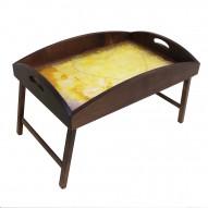 Столик для завтрака в постель с высоким бортиком «В ожидании любви»