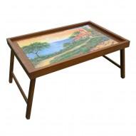 Столик для завтрака в постель «Домик у моря»